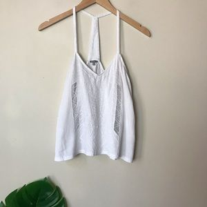 Charlotte Russe | Cutout Textured Tank Top Large